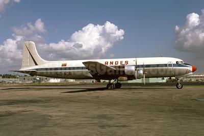 ANDES (Aerolineas Nacionales Del Ecuador) Douglas DC-6A HC-AQB (msn 44909) MIA (Bruce Drum). Image: 103646.