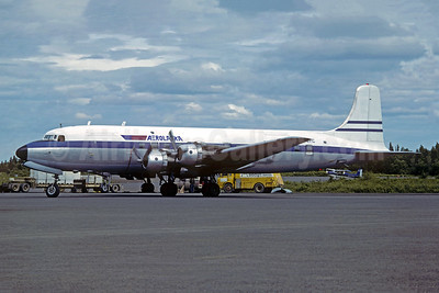Aerolaska Douglas DC-6B (F) N6537C (msn 43537) ANC (Christian Volpati Collection). Image: 951123.