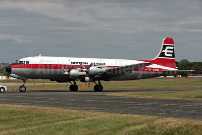 British Eagle International Airlines (Air Atlantique) Douglas DC-6A G-APSA (msn 45497) FAB (Antony J. Best). Image: 902035.