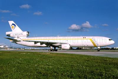 Cielos Airlines (Cielos del Peru) McDonnell Douglas MD-11 (F) N705GC (msn 48412) MIA (Bruce Drum). Image: 102329.