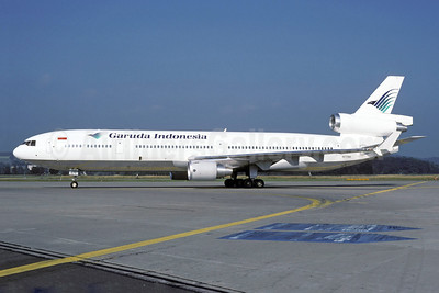 Garuda Indonesia Airways (World Airways) McDonnell Douglas MD-11 N272WA (msn 48437) ZRH (Rolf Wallner). Image: 912835.