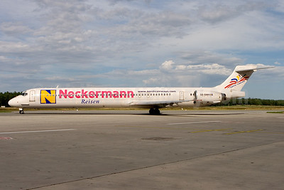 "Nordic Leisure's 2006 ""Neckermann Reisen"" logo jet"
