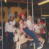 Floyd, Marvel,Rex, Virginia at the RRR carnival.  Dad & I LOVE cotton candy, Mom - candy apples.  Rex was living with Mom and Dad.