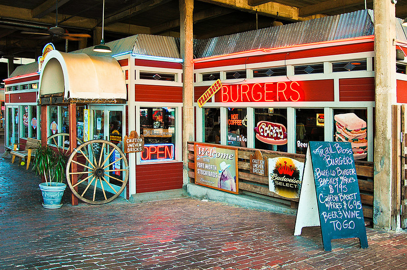 Burgers,<br /> Fort Worth Stock Yards