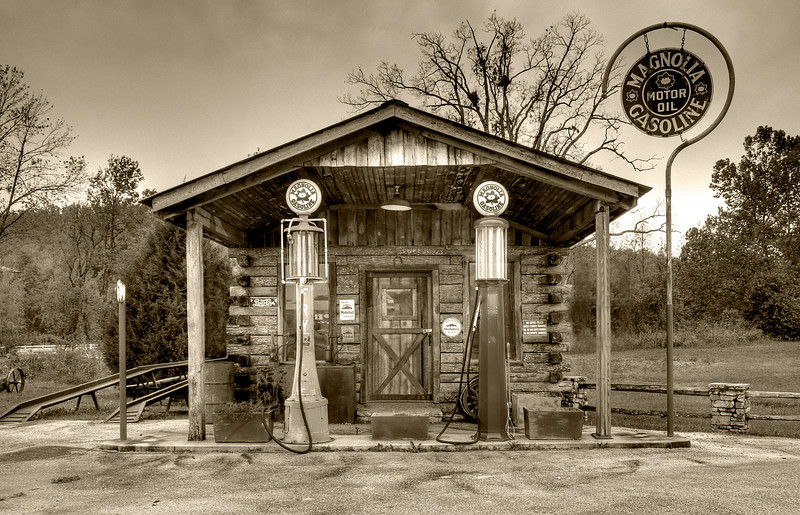 Magnolia Gasoline,<br /> Hardy, Arkansas<br /> First Place, B&W, SVCC, Jan. 2010