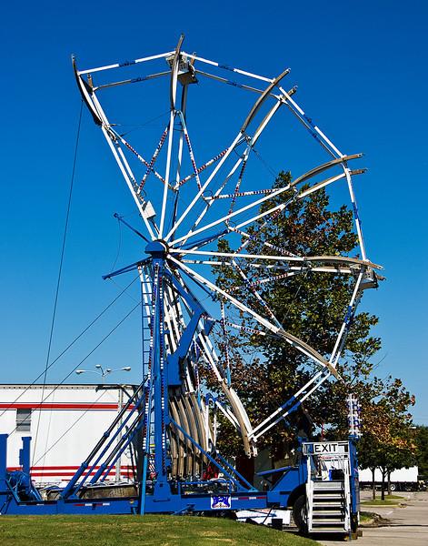 Ferris Wheel, half expanded.