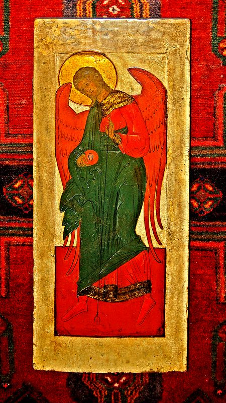 18th Century Russian Icon <br>Archangel Gabriel <br>  Photo by Maria Stocks