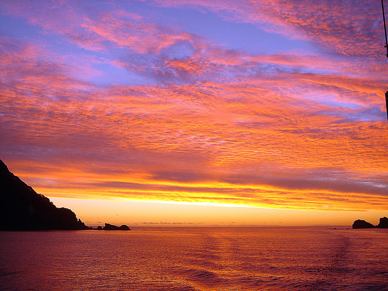Sunset in Doubtful Sound, New Zealand<br /> Photo by George Greenham