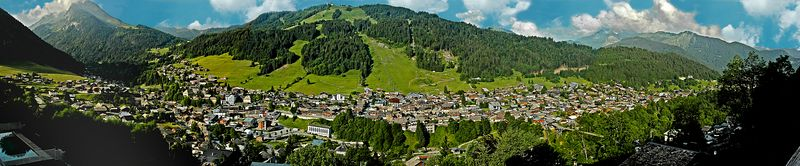 "Morzine, France  <br> (A panorama.  Available in lengths up to 44"")"