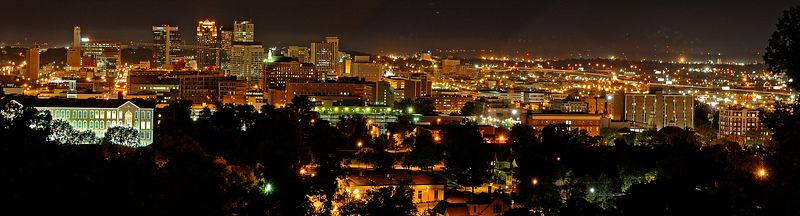 "Birmingham, Alabama <br> (A panorama.  Available in lengths up to 44"")"