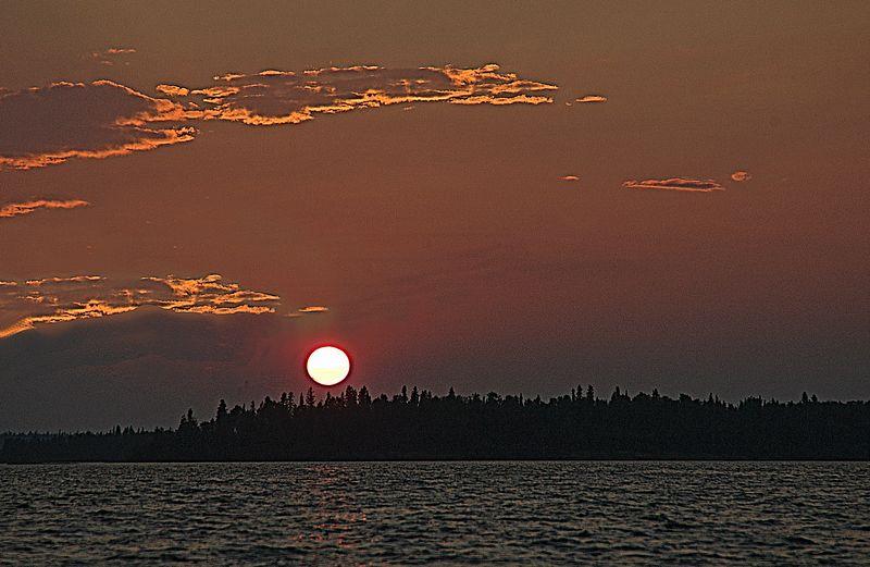Sunset on Amisk Lake <br> Denare Beach, Saskatchewan