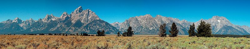 "Grand Tetons <br>    (A panorama. Available in lengths up to 44"".)"