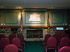 Dixville Notch Voting Room.   <br /> Dixville Notch is a community of approximately 75 residents in upper New Hampshire.  On the day of the Presidential Elections, all the eligible voters gather in this room at midnight and cast their ballots.  The polls are closed one minute later and the results are broadcast nationwide.   The voting room is located in The Balsams, one of very few Grand Hotels remaining, situated on a 15,000 acre plot accommodating golfing in the summer and skiing in the winter.