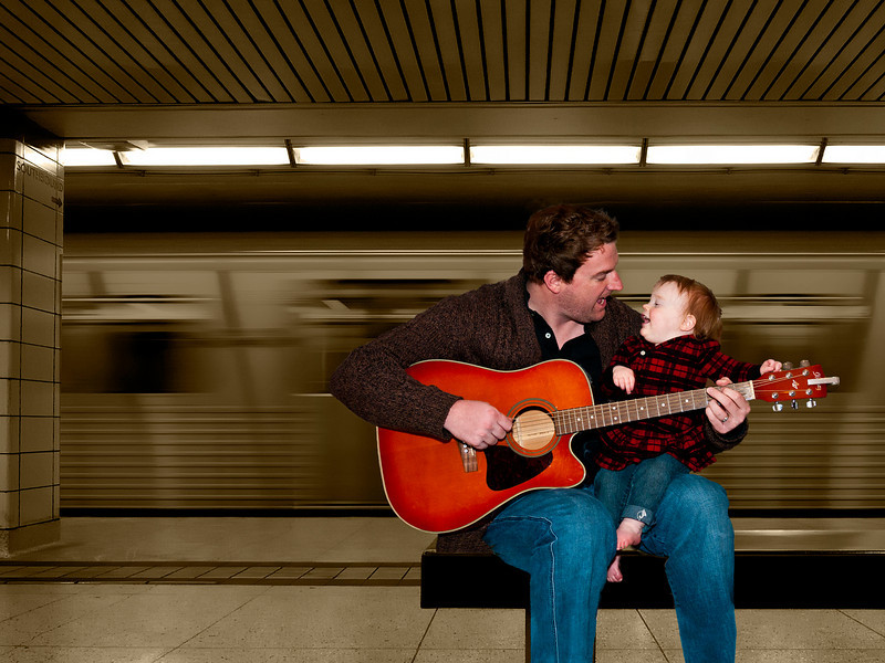 Duet<br /> <br /> Matt & Avery Holder singing a duet in the Toronto Underground.