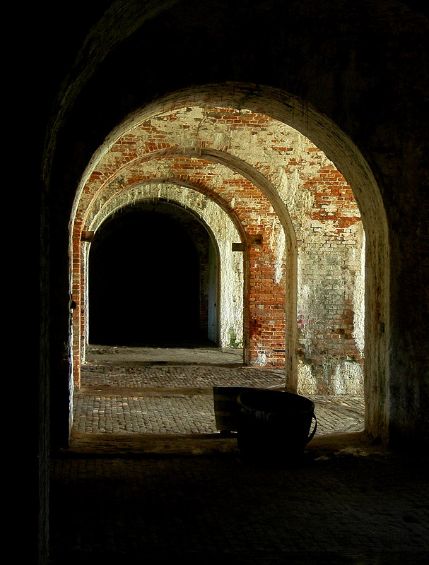 Casemates<br /> Fort Morgan, AL<br /> First Place, <br /> Shades Valley Camera Club, <br /> April 2006