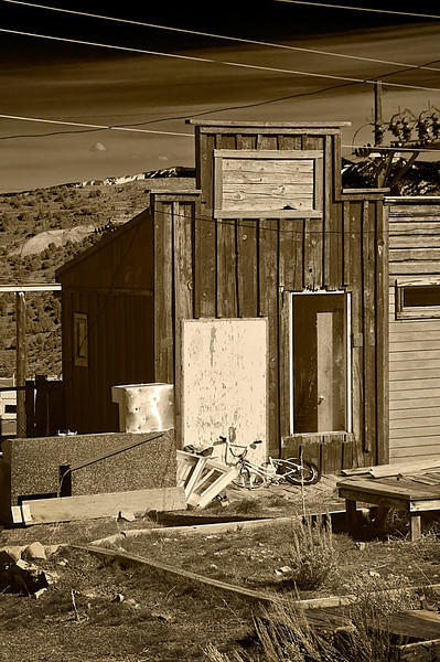 """Window Shopping?      A very small building in what is now a defunct part of VC.  Just the right size for Amsterdam style """"window shopping.""""  This is certainly a distinct possibility.   Prostitution was common in VC in early days; in fact the mining companies imported prostitutes for the benefit of their workers.   Prostitution in Nevada began here in Virginia City and is still legal in certain communities of the state today."""