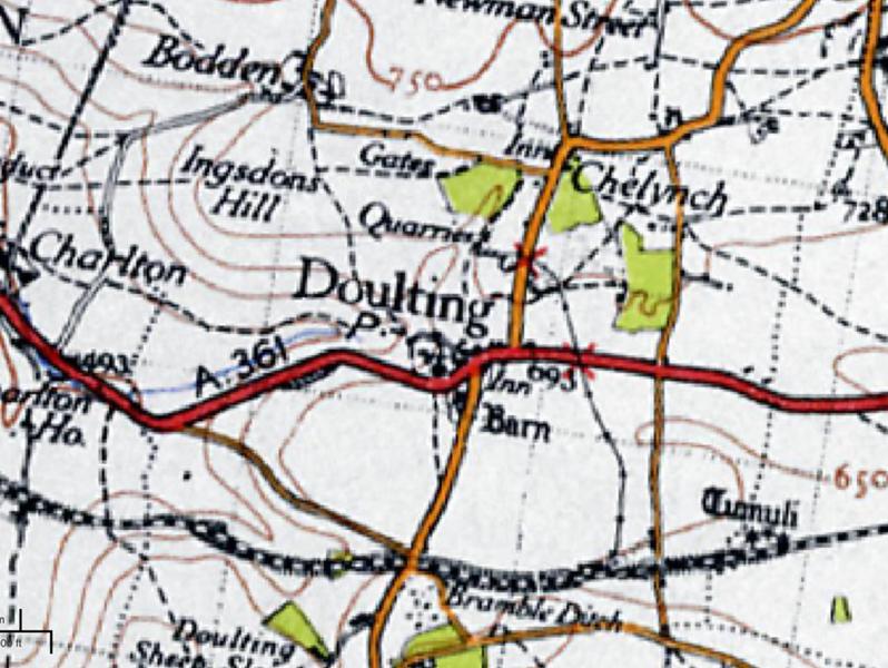 Ordnance Survey 1945 closer