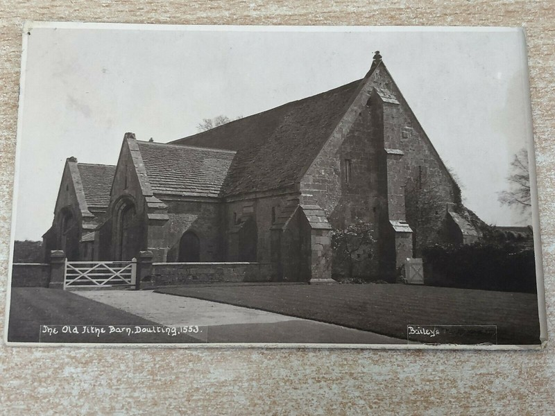 The Old Tithe Barn, Doulting, Somerset, Real Photograph Postcard - c 1930