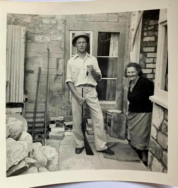 Keith and his mum Ivy Stott, at Number 46  Believed to have been renovating the kitchen and removing an external bread oven