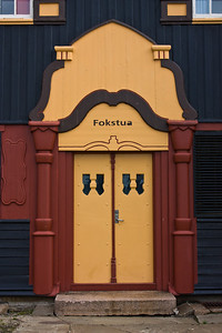 The main entrance at Fokstua station