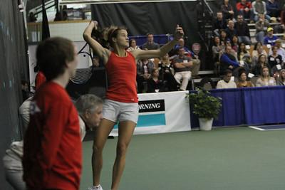 Nicole MELICHAR (USA) /Natalie PLUSKOTA (USA) v Anna TATISHVILI (GEO) [4] /Heather WATSON (GBR) (Saturday)