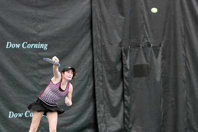 1st Round Qualifying Match between Caroline SZABO (USA) and Lauren ALBANESE (USA) at the 2016 Dow Corning Tennis Classic, Midland Michigan, 1/31/16