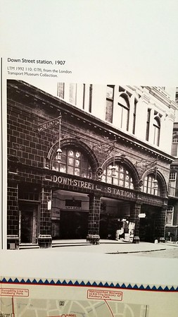 An old pic showing the lifts..now a small shop occupies the space in front of those lifts