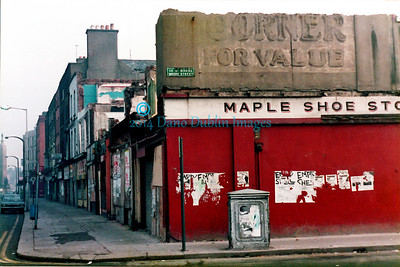 Parnell Street from the corner of  Moore Street