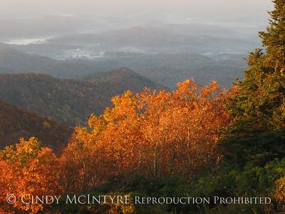 North Georgia Mountains in autumn