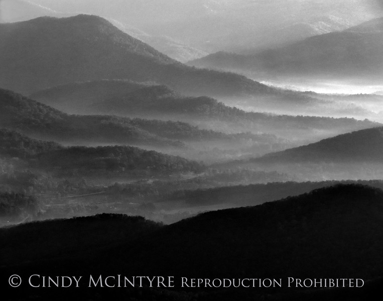 Brasstown Bald, GA October Sunrise060 BW copy