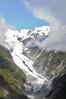 Flying towards the Franz Josef glacier