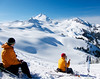 """""""The Daves"""" eat lunch wonder why anyone would pay to ski groomers."""