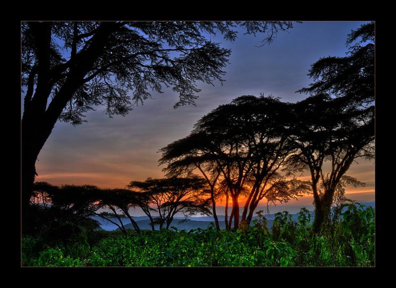 Sunset Over Ngorongoro