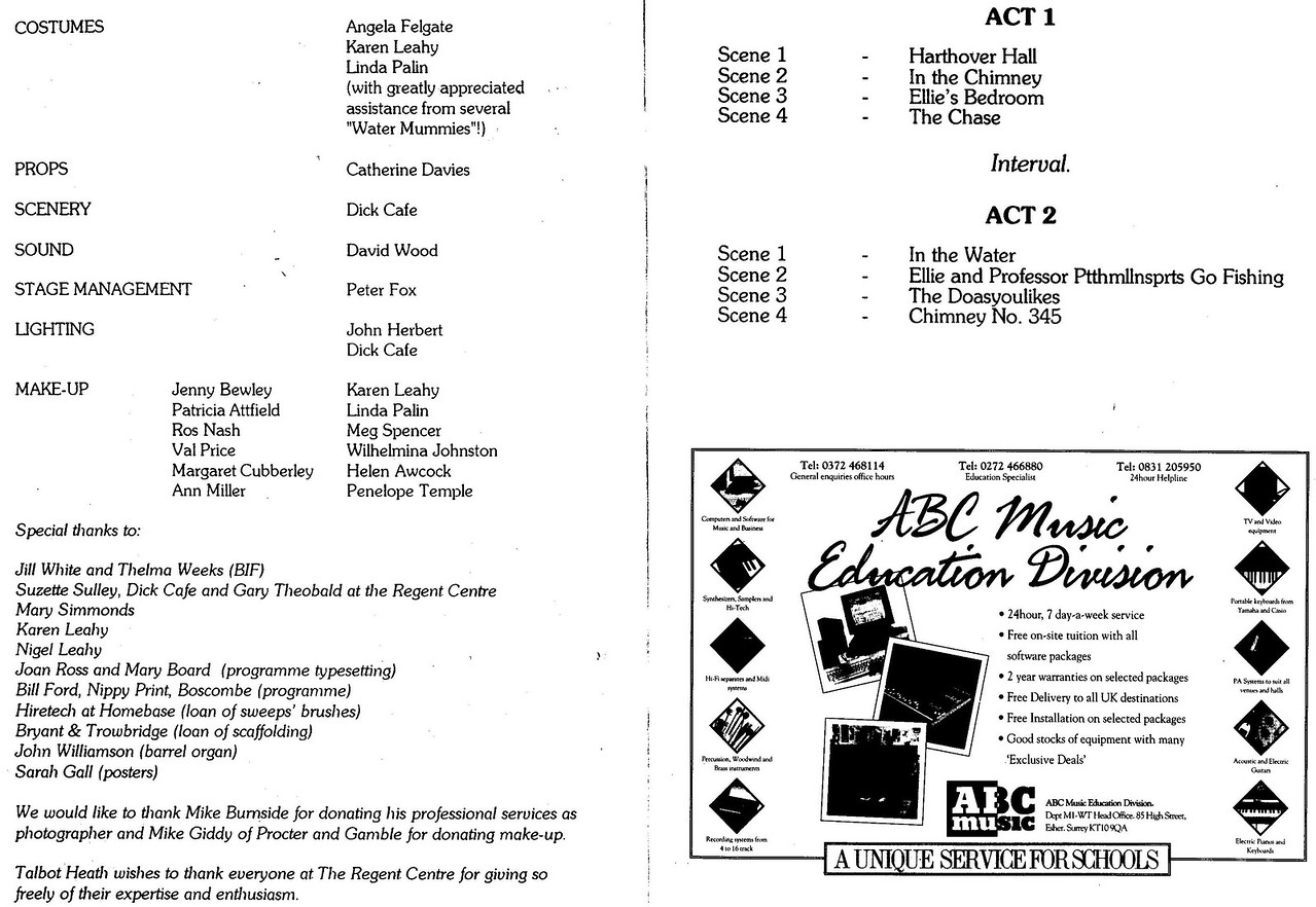Programme pages 6 and 7