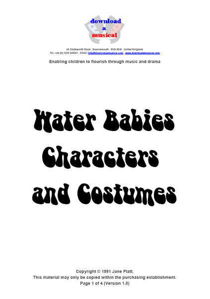 Characters and Costumes: Title Page