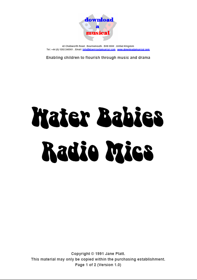 Radio Mics: Title Page