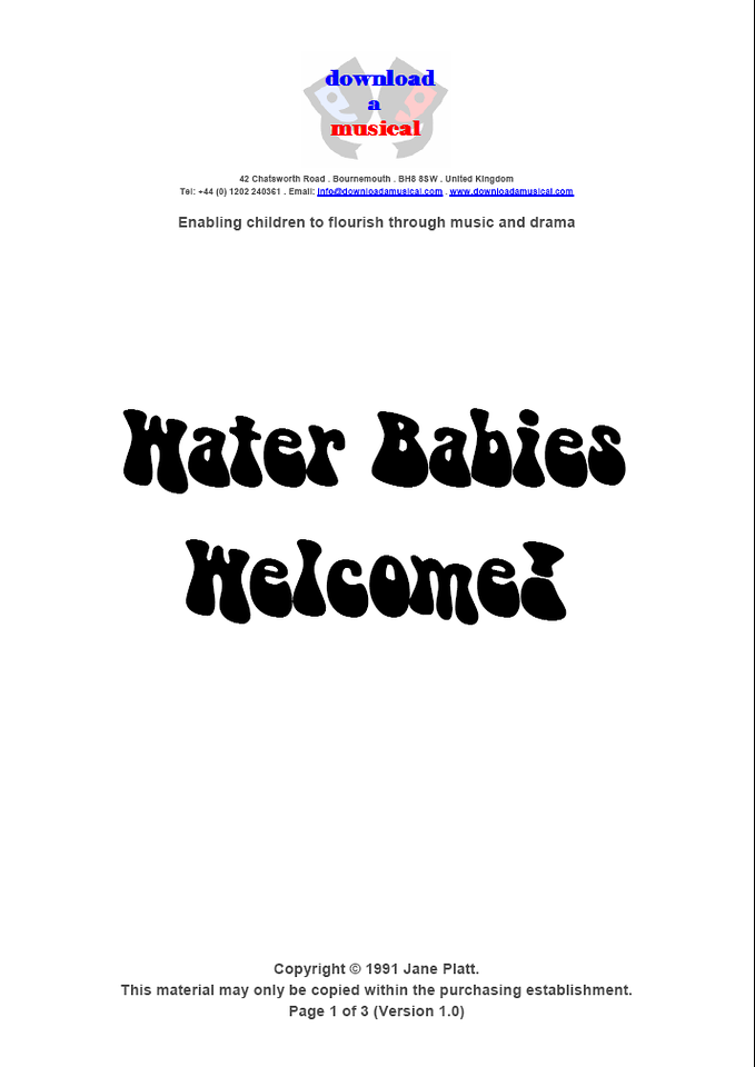 Welcome Page 1
