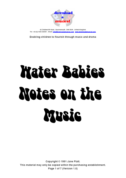 Notes On The Music: Title Page