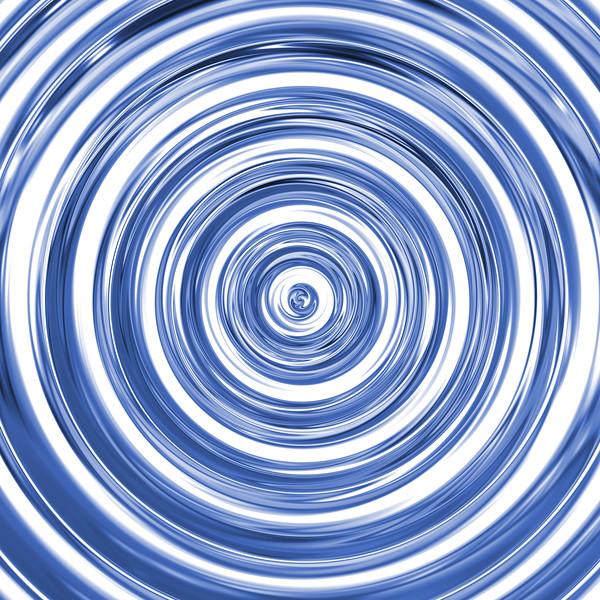 3D blue wave, mirror spiral