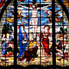Stained glass window in Saint Jean de Montmartre church