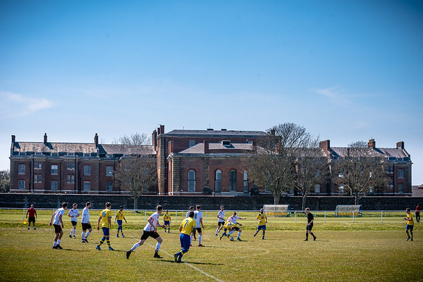 Meon Milton take on Stubbington in the Mid Solent League in front of Eastney Barracks in Portsmouth