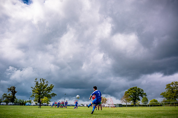 A free kick for Portland Panthers as storm clouds approach