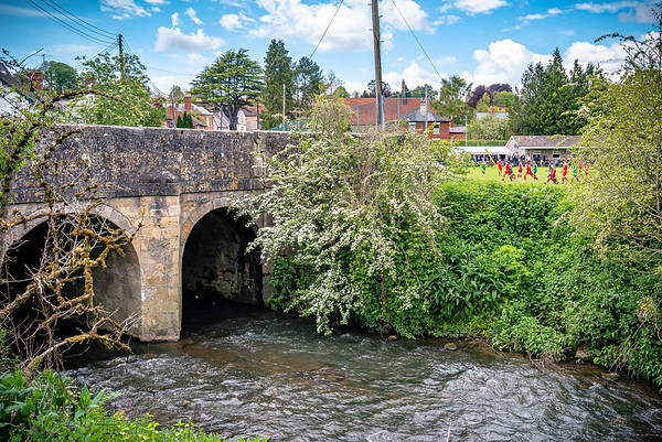The River Nadder flows past the home ground of Tisbury United of the Dorset League
