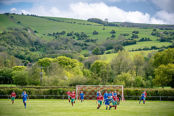 Okeford United take on Portland Panthers in the Dorset League Cup at their scenic ground