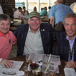 Jean Cruguet with Michael Blowen and Mark Otto of Old Friends Thoroughbred Retirement.