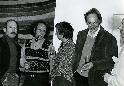 Don Lewallen, Harvey Quaytman, Kes Zapkus, Ronnie Bladen, Max Gimblett at the Bowery. _74