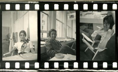 Paula Cooper, Michael Goldstein, David Diao at Paula's gallery late 1960's