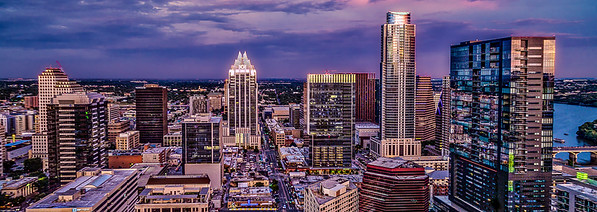 Downtown Austin Skyline Panoramic
