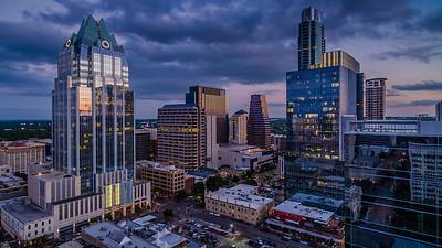 Downtown Austin Storm Clouds