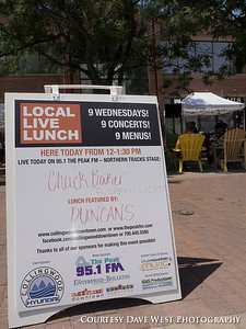 Local Live Lunch Week 1 - Catered by Duncan's Cafe with Music by Chuck Baker 003